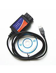 внешней торговли английский USB OBD2 ELM327 автомобильный диагностический тест линии пластиковый корпус