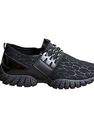 Atlético primavera sapatos masculinos / cair tecido conforto casual calcanhar plana azul / tênis / cinza