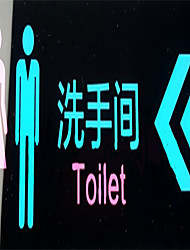 novos acrílicos rápidas banheiro da casa WC sinais números de cartões de sinalização wc