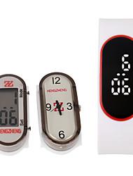 Unissex Relógio Esportivo Quartz / Digital LED / LCD Plastic Banda Pendente Preta / Branco / Vermelho marca