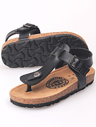 Men's Sandals Summer / Fall Sandals PU Casual Flat Heel Others Black / White / Black and White Others