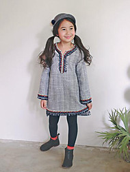Girl's Holiday Striped Overall & JumpsuitPolyester Winter / Fall Gray