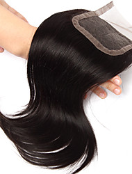 10Inch Handtied Staight Lace Closure Unprocessed Hair Remy Human Hair 4*4Swiss Lace