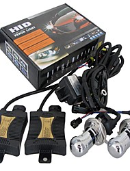 55W Xenon Hi-Low HID KIT Headlight lamp Slim Ballast H4 -4300K 6000K 8000K 10000K 12000K