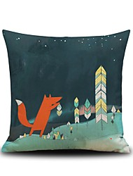 1PC Household Articles Back Cushion Novelty  Originality Fashionable Fox Pattern Single Pillow Case