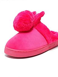 Women's Slippers & Flip-Flops Fall / Winter Flats Customized Materials Casual Flat Heel Others Black / Pink / Purple