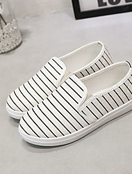 Women's Loafers & Slip-Ons Denim Fall Casual Platform White Black Blue Flat