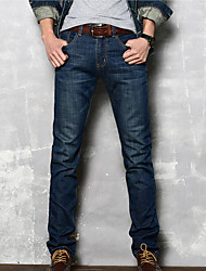 Men's Solid Casual JeansOthers Blue Denim
