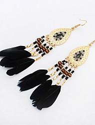 High Quality Fashion Bohemia Earrings Jewelry 2016 Women's Trendy Long Earrings Boho Feather Earrings