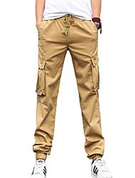 Herren Jeans-Einfarbig Freizeit Baumwolle Schwarz / Grün / Beige