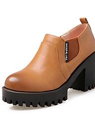 Damen-High Heels-Büro / Kleid / Lässig-Lackleder / Kunstleder-Blockabsatz-Absätze / Pumps / Spitzschuh / Reitstiefel / Modische Stiefel /