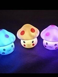 Colorful Led Night Light Romantic Expression Mushroom Lamp Automatic Color