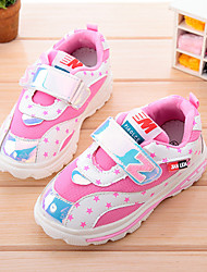 Girl's Sneakers Spring / Fall / Winter Flats PU Casual Flat Heel Magic Tape Black / Blue / Pink Sneaker