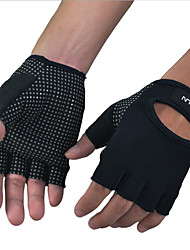 Men's Leather Gloves Guard Palm Fitness Bodybuilding Weight Training Riding Cycling Sports Gloves 1 Pair