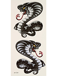 1 Tattoo Aufkleber Tier Serie cobra Flash-Tattoo Temporary Tattoos