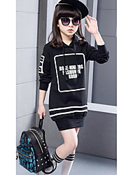 Girl's Casual/Daily Print Hoodie & SweatshirtCotton Spring / Fall Black / White