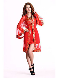 Costumes More Costumes Halloween Red Patchwork Terylene Corset / More Accessories