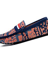Herren-Flache Schuhe-Lässig-PU-Flacher Absatz-Komfort-Rot Orange