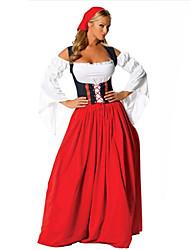 Women's Long Dress Oktoberfest Beer Maid Bar Fancy Costume