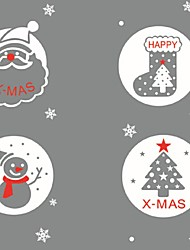 Merry Christmas Removable Snow Ball Decal Home Window Decor Wall Stickers For Kids Room Nursery Market Mural