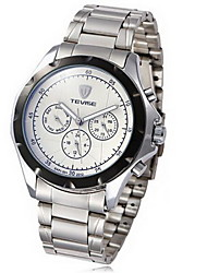 Tevise 8451 - 001 Men Automatic Mechanical Watch Round Dial with Day Date Stainless Steel Band - WHITE 11557