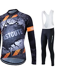 Sports® Cycling Jersey with Tights Women's / Men's / Unisex Long SleeveBreathable / Quick Dry / Moisture Permeability / 3D Pad /