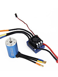 3660 3300KV Sensorless Brushless Motor 80A ESC  BEC For 110 RC Car Parts