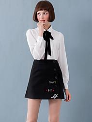 linjou linjou черно-белой печати skirtssimple женщин выше колена