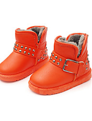 Girl's Boots Fall / Winter Snow Boots / Fashion Boots Leatherette Outdoor / Casual Flat Heel Rivet Snow Boots