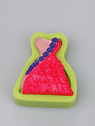 3D skirt shape baking mould  fondant mold custom  silicone bake mold