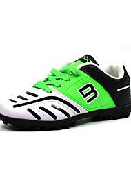 Boy's Sneakers Fall Round Toe PU Outdoor Flat Heel Lace-up Blue / Green / White / Black