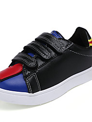 Boy's Loafers & Slip-Ons Spring / Fall Comfort PU Casual Flat Heel Magic Tape Black / White Sneaker