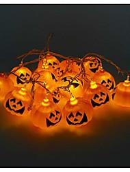 lâmpadas de cabeça de abóbora cadeia fantasma do dia das bruxas LED barra de luz 16 suporte da lâmpada