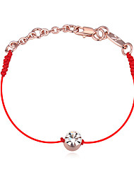 Austrian Crystals Thin Red Thread String Rope Charm Bracelets for Women