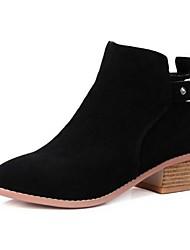 Women's Boots Fall Winter Suede Outdoor Chunky Heel Block Heel