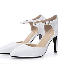 Damen-High Heels-Outddor-Kunstleder-Stöckelabsatz-Sandalen-Rosa / Weiß / Beige