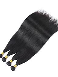 Menschenhaar spinnt Peruanisches Haar Gerade 4 Stück Haar webt
