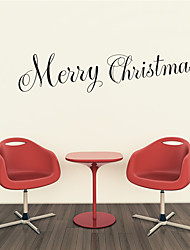 AYA DIY Wall Stickers Wall Decals Christmas Festival Merry Chritmas Style PVC Stickers 13*55cm