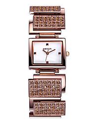 WEIQIN  Rectangle Dial Crystal Rhinestone Bangle Watches Women Quartz Wristwatch