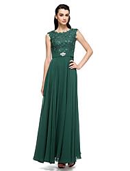 vestido de noche formal - bola primicia vestido palabra de longitud gasa / cordón / charmeuse con abalorios / cordón / perla detallando