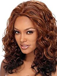 18inch Medium Brown #4 Lace Front Wavy Human Hair Human Hair Lace Front Wigs