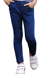 Girl Casual/Daily Solid Pants-Denim Spring / Fall