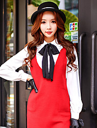 Women's Daily / Work / Party/Cocktail Vintage / Cute / Sophisticated Shirt Solid Shirt Collar