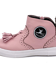 Girls' Boots Other Leather Casual White Black Blushing Pink