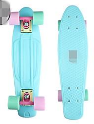 PU Kid's Standard Skateboards Blue Blushing Pink
