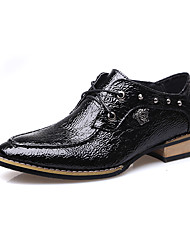 Men's Oxfords Spring / Fall Comfort PU Casual Low Heel Others / Lace-up Black / Burgundy Others