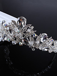 Mujer Diamantes Sintéticos Aleación Perla Artificial Celada-Boda Ocasión especial Casual Tiaras 1 Pieza