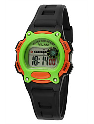 Kids' Sport Watch / Wrist watch Digital LED / Water Resistant/Water Proof Plastic BandVintage / Cartoon / Stripe / Heart shape / Candy
