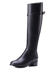 Women's Boots Fall / Winter Others Leatherette Party & Evening / Dress / Casual Low Heel Zipper Black / Silver Others