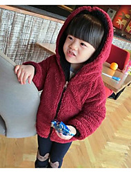 Girl's Casual/Daily Solid Suit & BlazerCotton Winter / Spring / Fall Black / Red